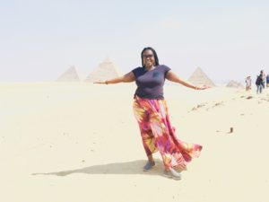 Diana in Egypt at the Pyramids