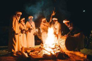 Sahara Desert - Night at Camp